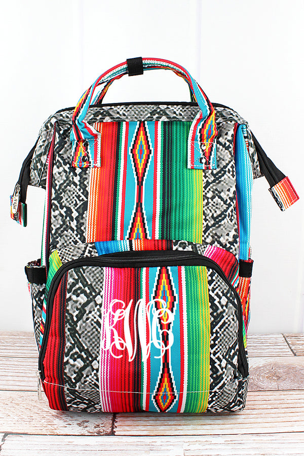 Slithering Serape Diaper Bag Backpack