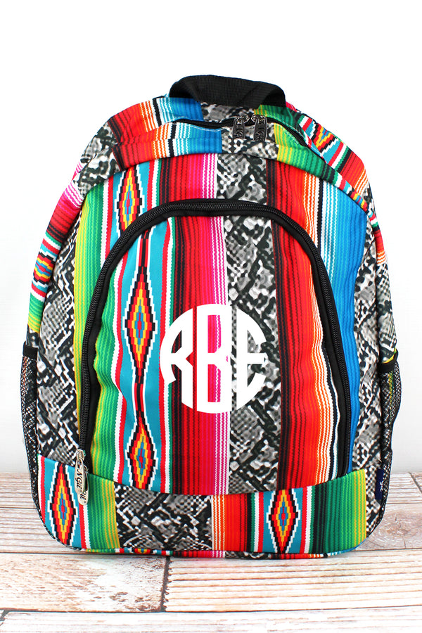 Slithering Serape Large Backpack