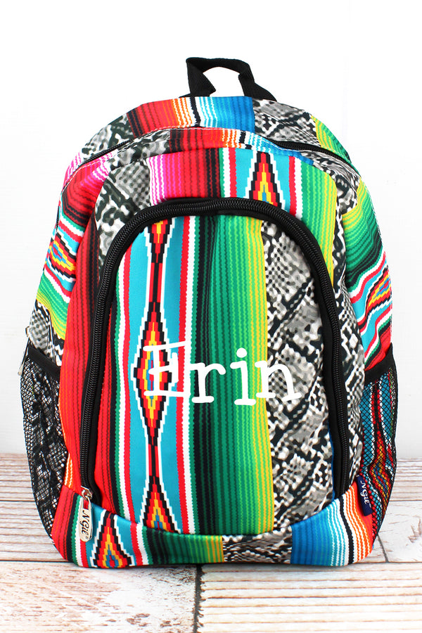Slithering Serape Medium Backpack