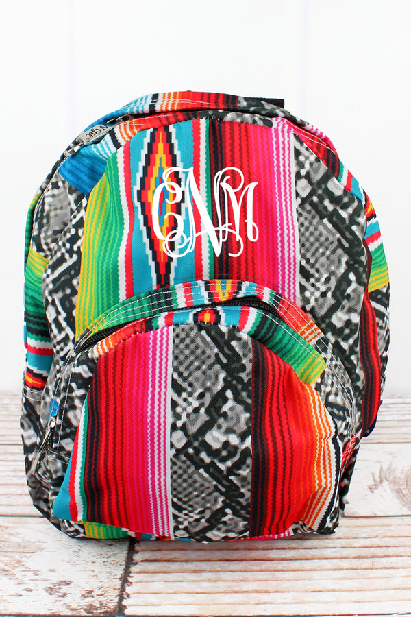 Slithering Serape Small Backpack