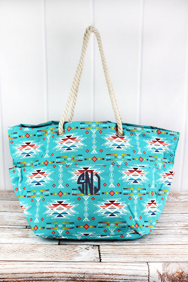 Santa Fe Sunrise Rope Handle Beach Tote