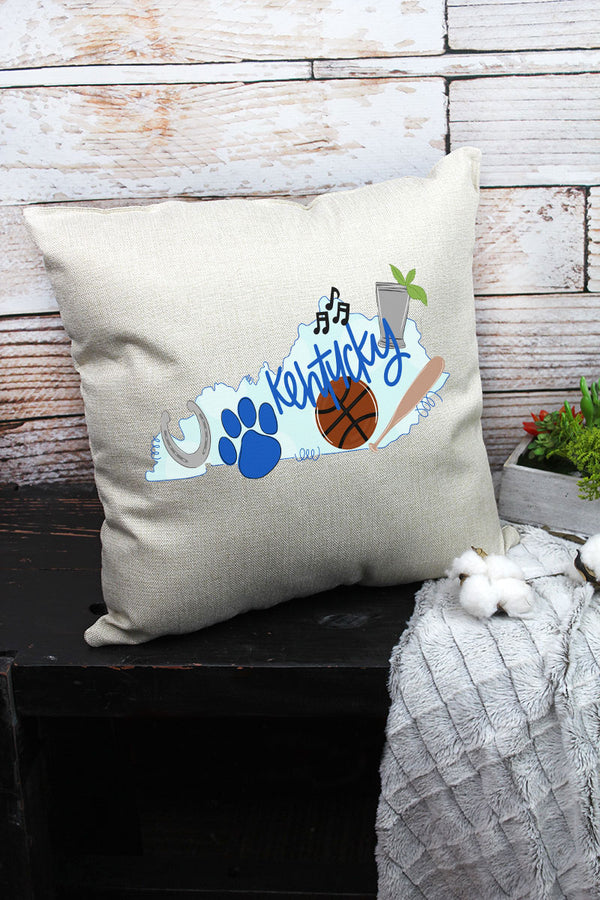 State Kentucky Doodle Decorative Pillow Cover
