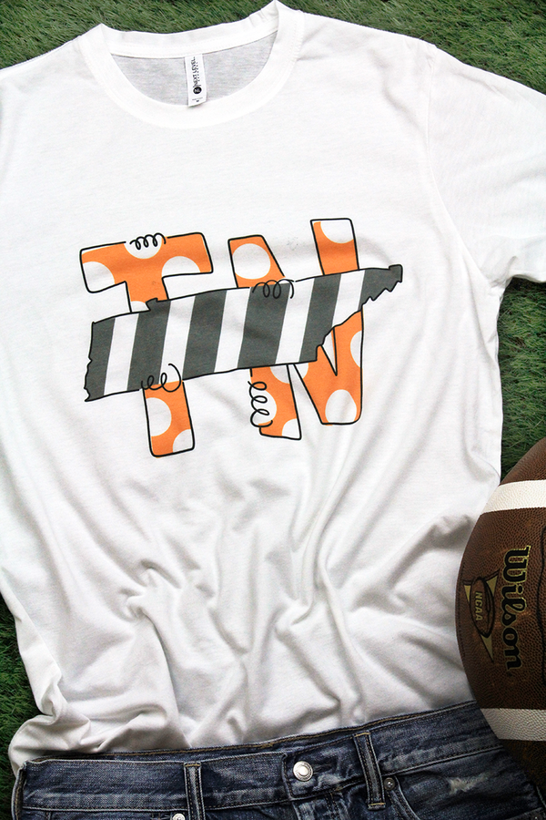 State Tennessee Letters Poly/Cotton Tee