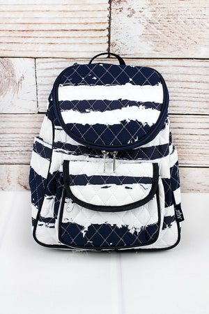 Ocean Breeze Quilted Petite Backpack