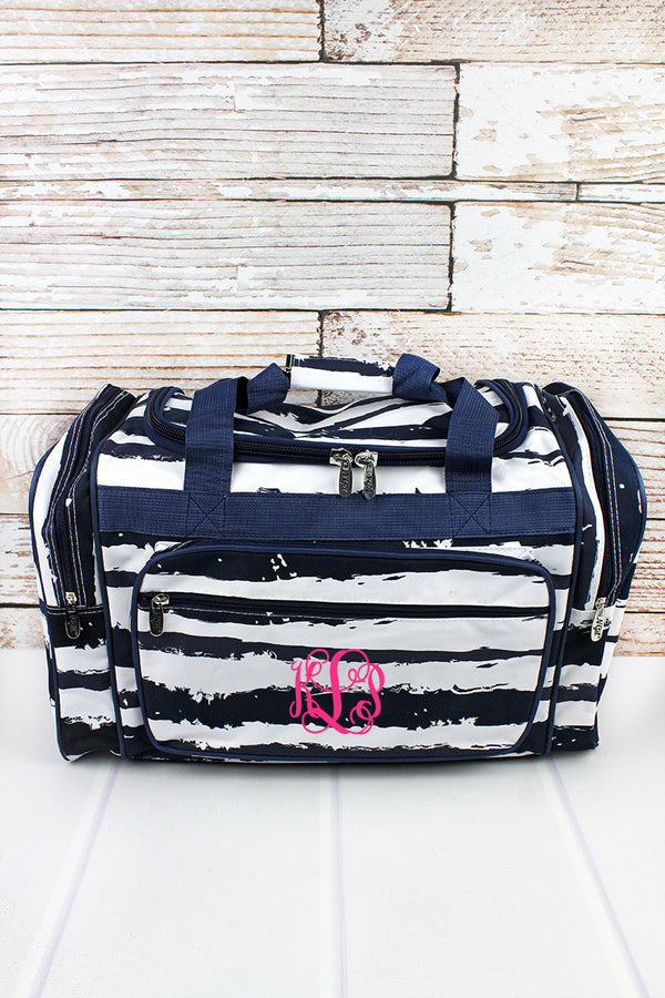 Ocean Breeze Duffle Bag with Navy Trim 20""