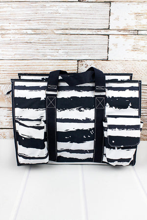 Ocean Breeze with Navy Trim Large Organizer Tote