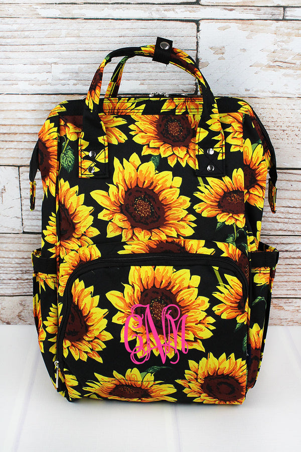 Sunflower Diaper Bag Backpack