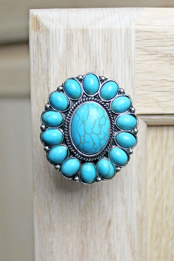 Glen Rose Turquoise Beaded Cabinet Knob