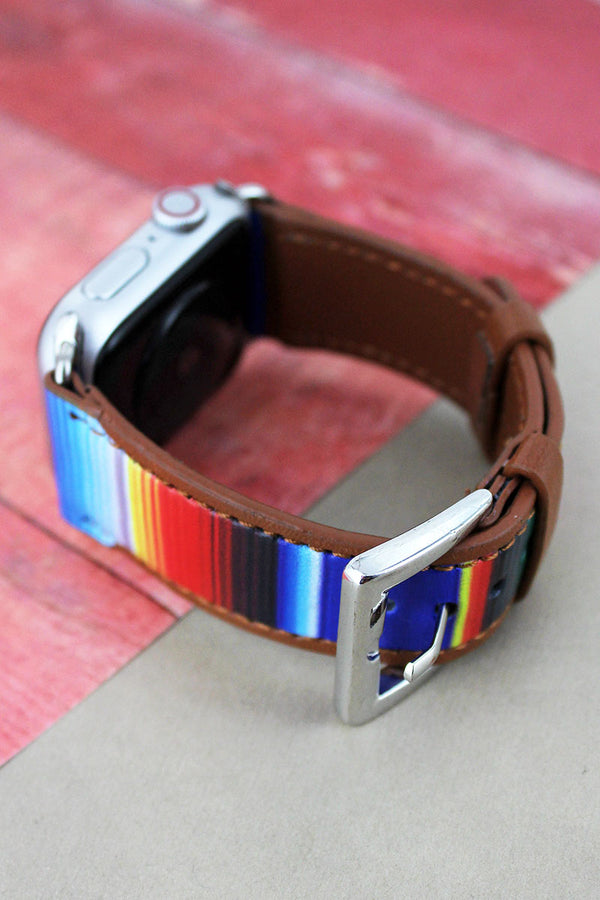 Southwestern Serape Faux Leather Adjustable Band for Apple Watch, 42mm-44mm