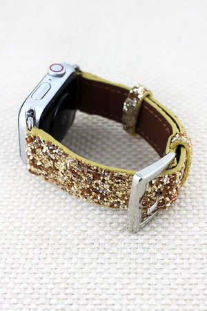 Gold Glitter Adjustable Band for Apple Watch