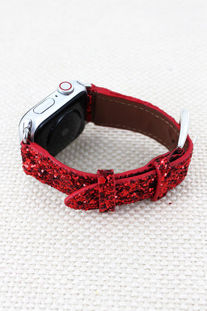 Red Glitter Adjustable Band for Apple Watch