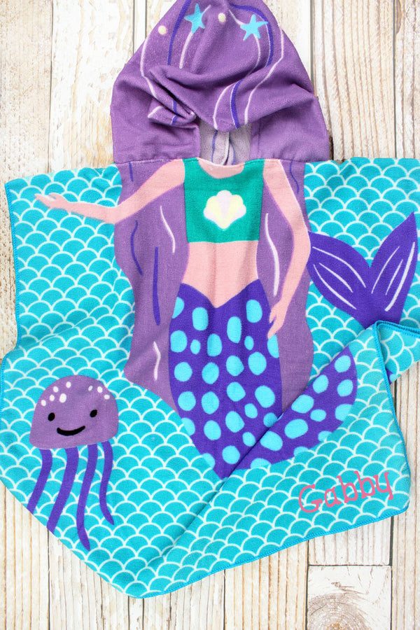 Kid's 'I'm Mer-Mazing' Mermaid Hooded Beach Towel