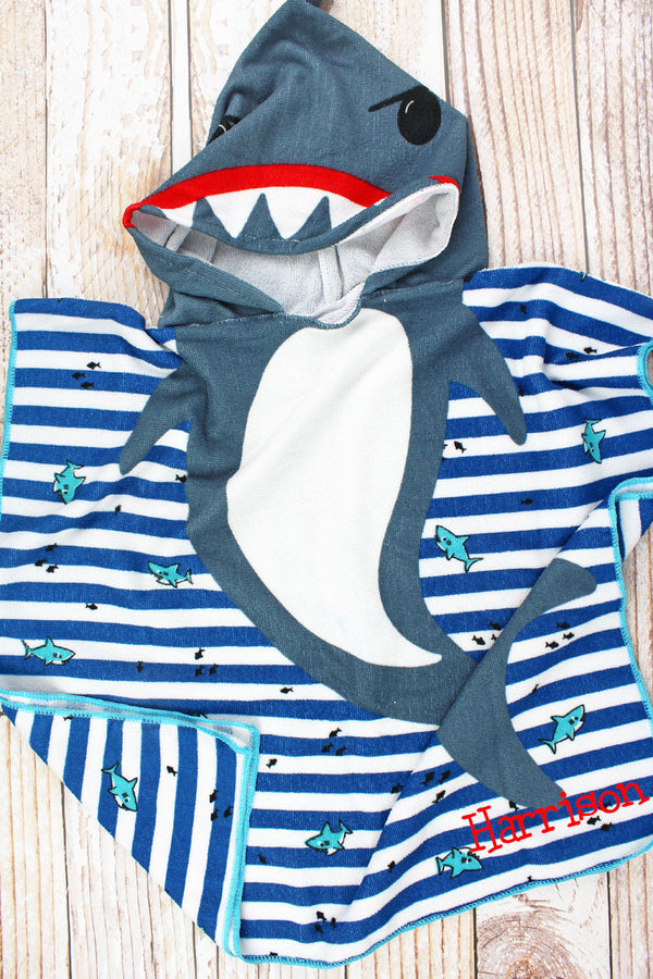 Kid's 'I'm Jaw-Some' Shark Hooded Beach Towel
