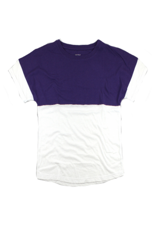 Boxercraft Purple and White Short Sleeve Pom Pom Pullover *Personalize It!