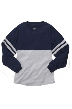 Boxercraft Navy and Oxford Pom Pom Jersey *Personalize It