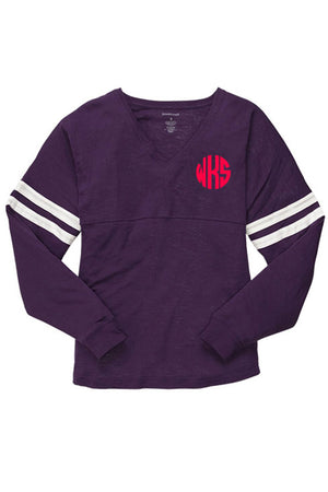 Varsitee Slub Tee, Purple #T17 *Customizable!