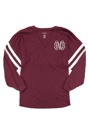 Boxercraft Varsitee Slub Tee, Maroon *Customizable!