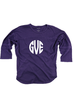 Purple Vintage Oversized Jersey #T19P *Personalize It!