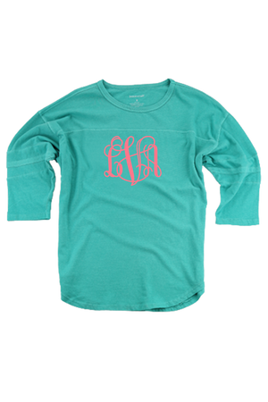 Teal Vintage Oversized Jersey #T19T *Personalize It!