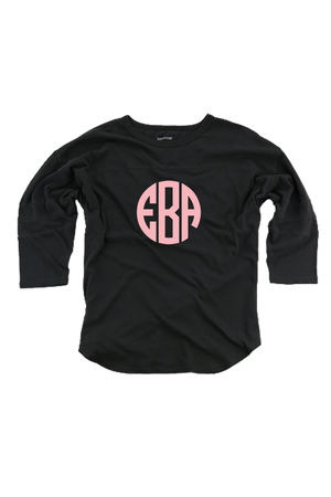 Black Vintage Oversized Jersey #T19B *Personalize It!