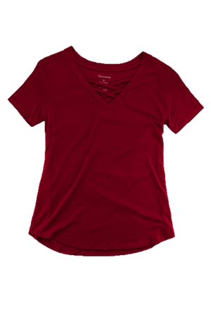 Boxercraft Crimson Front Caged Tee