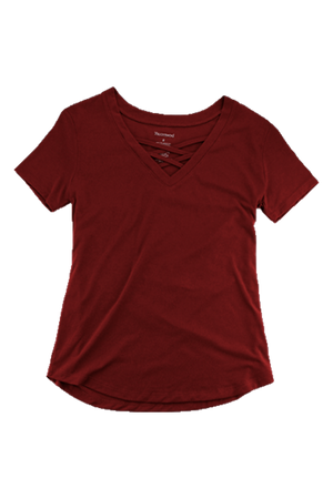 Boxercraft Garnet Front Caged Tee