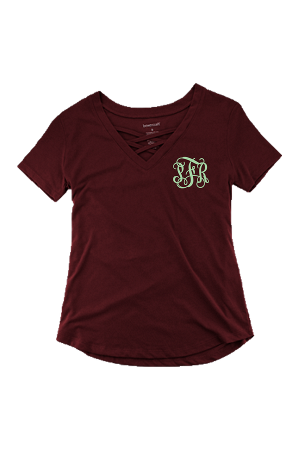 Boxercraft Maroon Front Caged Tee