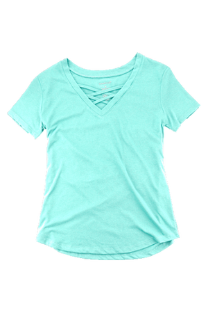 Boxercraft Mint Front Caged Tee