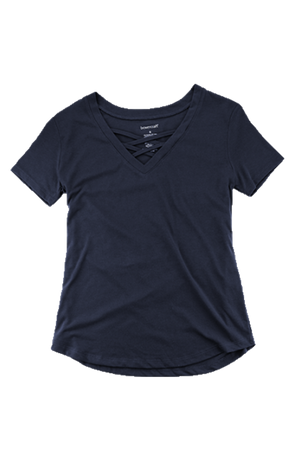 Boxercraft Navy Front Caged Tee