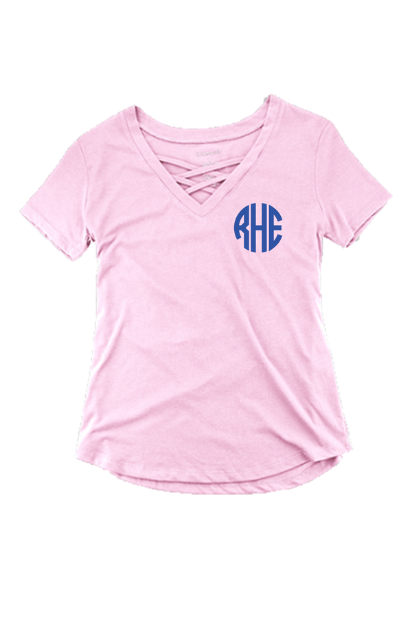 Boxercraft Pale Pink Front Caged Tee