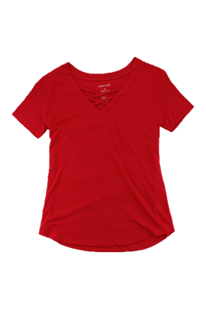 Boxercraft Red Front Caged Tee