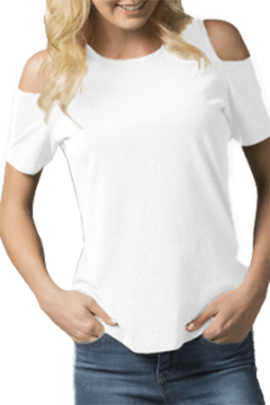 Boxercraft Cold Shoulder Tee, White