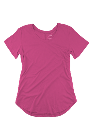 Boxercraft Flowy Scoop Neck Tee, Fuchsia