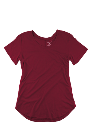 Boxercraft Flowy Scoop Neck Tee, Maroon