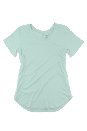 Boxercraft Flowy Scoop Neck Tee, Mint
