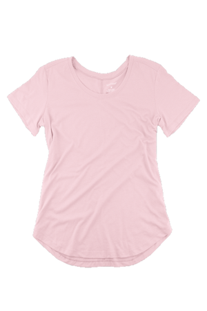Boxercraft Flowy Scoop Neck Tee, Pale Pink