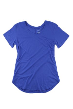 Boxercraft Flowy Scoop Neck Tee, Royal