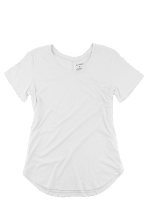 Boxercraft Flowy Scoop Neck Tee, White