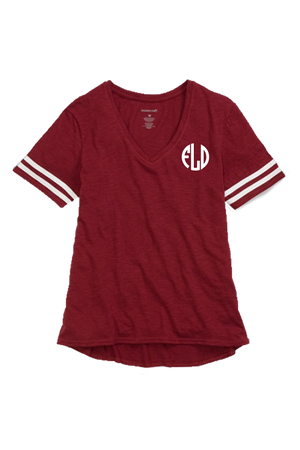 Sporty Slub Tee, Garnet #T62 *Personalize It