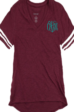 Boxercraft Sporty Slub Tee, Maroon *Personalize It