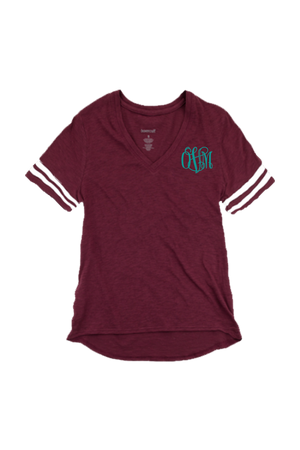 Sporty Slub Tee, Maroon #T62 *Personalize It