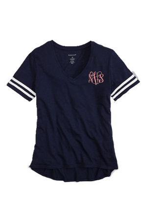 Sporty Slub Tee, Navy #T62 *Personalize It