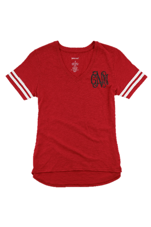 Sporty Slub Tee, Red #T62 *Personalize It
