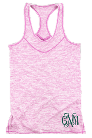 Fuchsia Tiger Slub Tank #T81F *Personalize It!