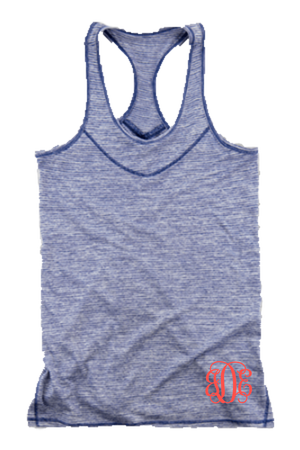 Navy Tiger Slub Tank #T81N *Personalize It!