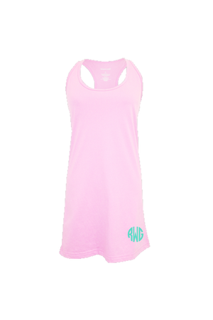 Pale Pink Tank Dress/Cover Up #T83 *Personalize It