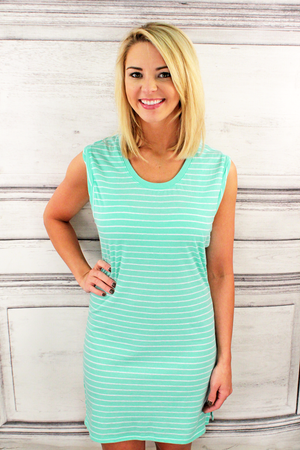 Boxercraft Navy Stripe Sleeveless Dress/Cover Up *Personalize It