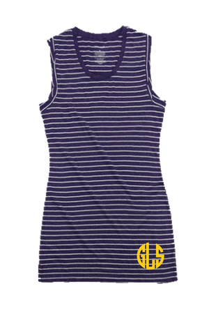 Purple Stripe Sleeveless Dress/Cover Up #T84 *Personalize It
