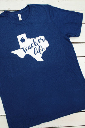 State Teacher Life Unisex Tri-Blend Short Sleeve Tee #3413