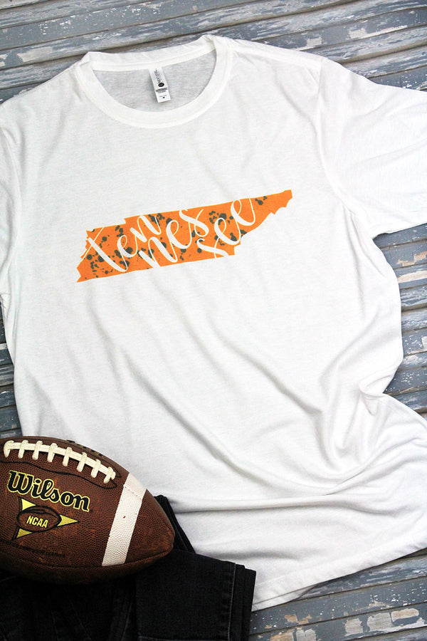 Tennessee Splatter Poly/Cotton Tee